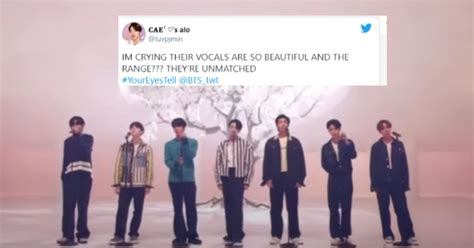 """20 Tweets About BTS' First """"Your Eyes Tell"""" Performance"""