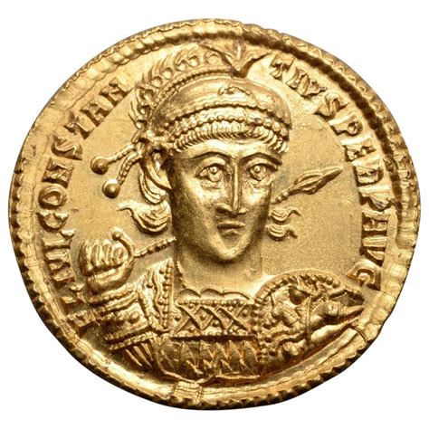 Superb Ancient Roman Gold Solidus Coin of Emperor