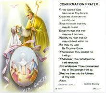Confirmation Prayer Girl Laminated Holy Card - Our Daily