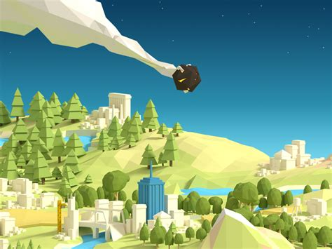 Low poly map by Alex Pushilin on Dribbble