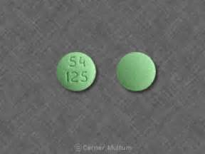 54 125 Pill Images (Green / Round)